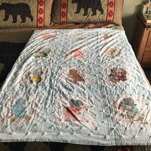 """Vintage Handmade Baby Quilt Cover 41"""" W X 54"""" Long"""